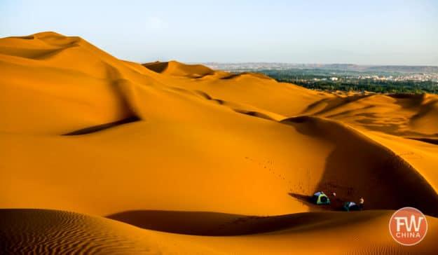 Kumtagh Desert sand dunes near Turpan