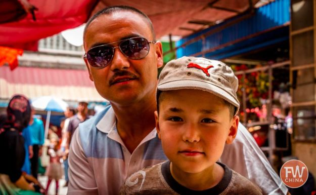 Uyghur father and son