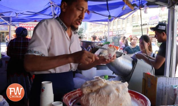 Uyghur ice cream in Urumqi, Xinjiang