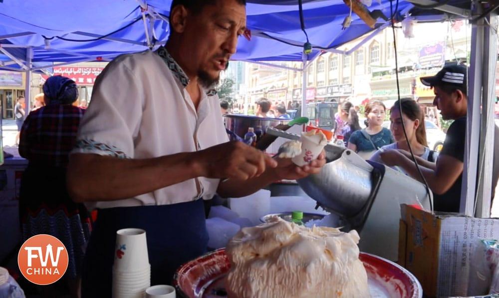 Uyghur ice cream in Urumqi, Xinjiang