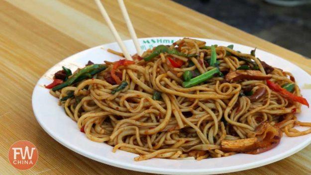 Karamay Fried Yellow Noodles | Xinjiang Street Food