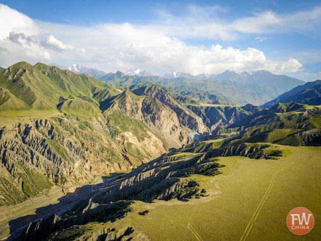 Dushanzi Grand Canyon as seen from Wusu, Xinjiang 独山子大峡谷