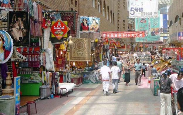 Inside the Urumqi Grand Bazaar