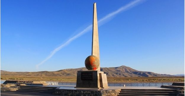 Russian center of Asia monument