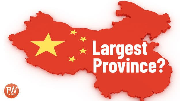 What is the largest province in China?