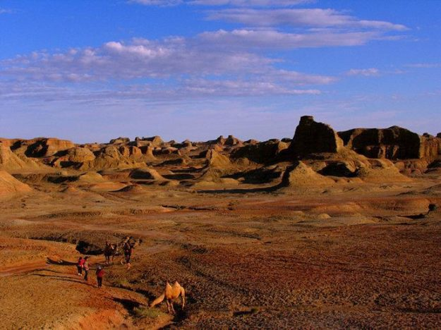 The famous Ghost City of Karamay in Xinjiang, China