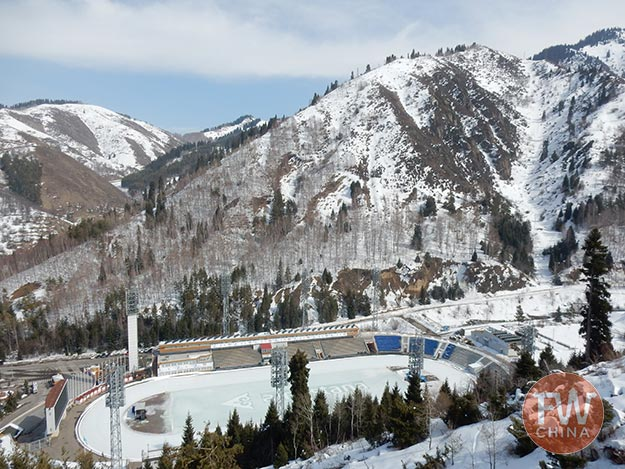 The Medeu ice rink in Kazakhstan