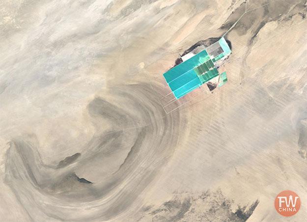 Potash fertilizer plant in the Xinjiang Desert (China)