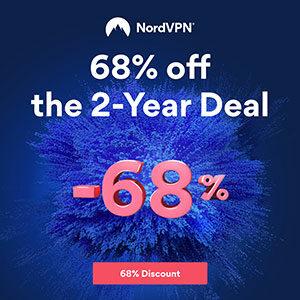 Get 68% off NordVPN